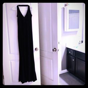 Beautiful halter top black dress